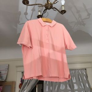 Outdoor voices pale blush cropped polo shirt OV